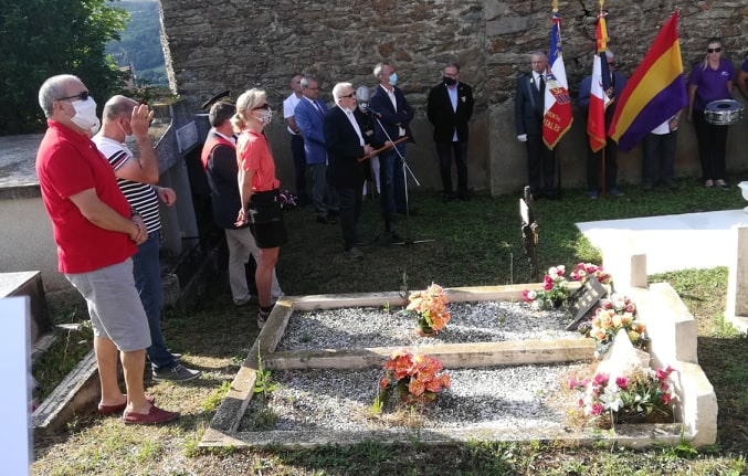 Hommage au Guérilleros Espagnol à La Bastide 2 08 2020